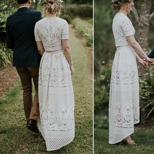 Lover the label white magick bridal lace skirt 8